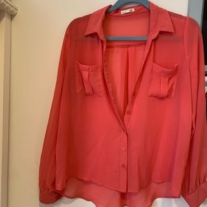 Peach colored blouse